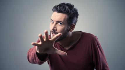 Angry threatening man