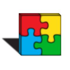 Logo puzzle colorato 3D 2