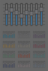 Vector pack of graphic equalizers