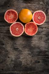 Squeezed citrus fruit