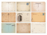 collection of nine vector postcard backgrounds - 79321116