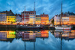 Leinwanddruck Bild - Nyhavn in Copenhagen, Denmark