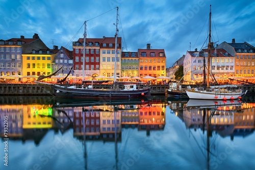 Nyhavn in Copenhagen, Denmark - 79322105
