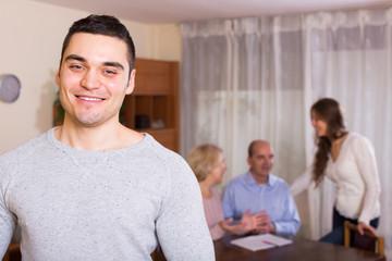 Man staying near family members