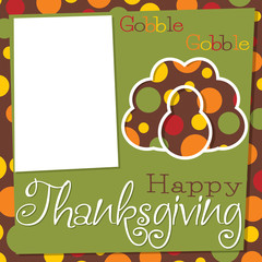 Cut out Thanksgiving card in vector format.