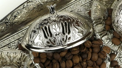 Roasted Coffee and Antique Anatolian Pot