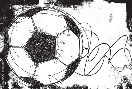 Sketchy Soccer ball background - 79324389