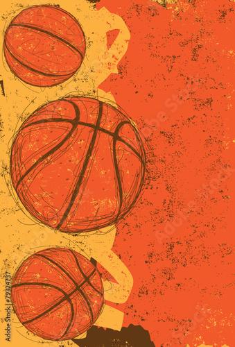 obraz lub plakat Trzy koszykówki