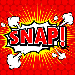 Snap! Comic Speech Bubble, Cartoon.