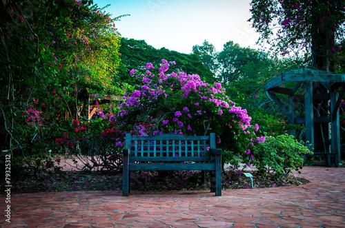 Fotobehang Singapore Park bench