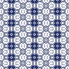 Seamless ornamental pattern in blue