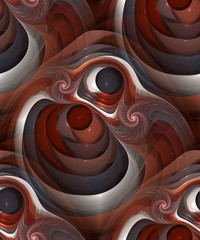 Seamless abstract modular object with spiral, tileable pattern
