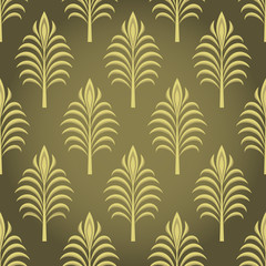 Luxury ornamental  leaf  wallpaper pattern.