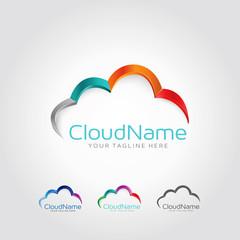 Cloud Color Logo Design Concept