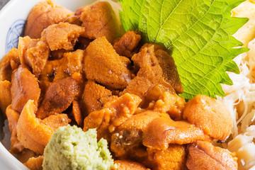 ウニ丼 日本食  Japanese foods sea urchin bowl
