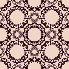 Abstract vintage spirograph pattern
