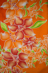 textile pattern with floral