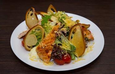 Salad from chicken fillet