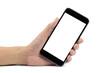 Hand holding smart phone - 79328930