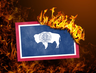 Flag burning - Wyoming