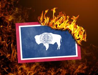 Flag burning - Wyoming