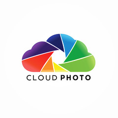 Cloud Photo Logo Design Concept