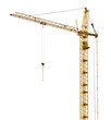 single isolated high dark gold hoisting crane - 79330796