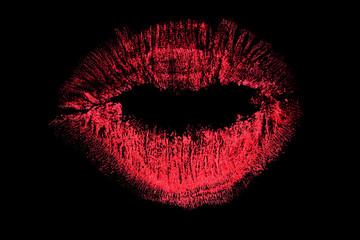 lips bright kiss track on black