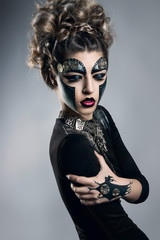 woman with makeup Steampunk