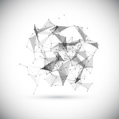 Abstract low poly geometric technology vector design element