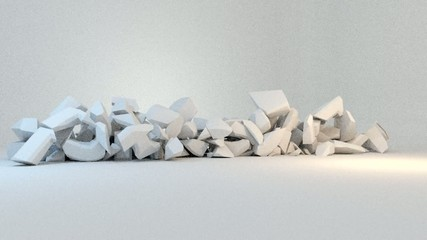 Profit - text smash break explode collapse animation