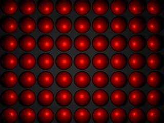 abstraction from the red balls on a black background