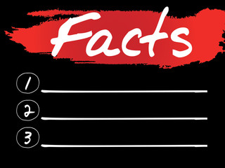 Facts Blank List, vector concept background