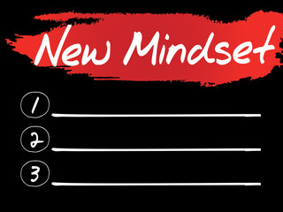 New Mindset Blank List, vector concept background