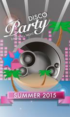 Vector Disco Party Flyer Design 2