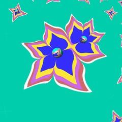 fiori in volo su sfondo verde