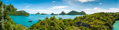 Leinwandbild Motiv Panorama Koh Samui Ang Thong Islands national park