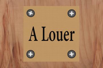 A Louer  - Annonce immobilière