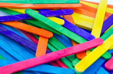 Colorful of icecream sticks background