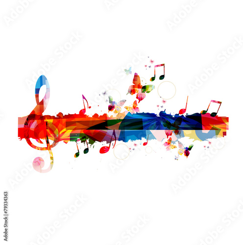 Colorful G-clef background - 79334363
