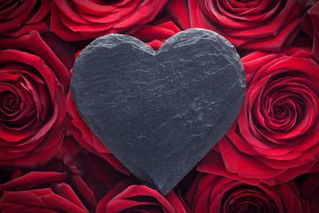 Blank Slate Heart on Roses