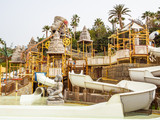 Water attraction in the Siam waterpark. Tenerife