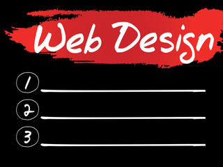 Web Design Blank List, vector concept background