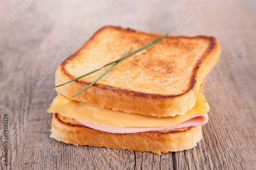 Fotobehang Brood sandwich, croque monsieur