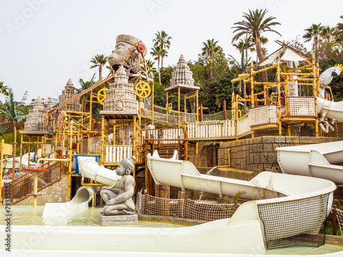 Water attraction in the Siam waterpark. Tenerife - 79335383