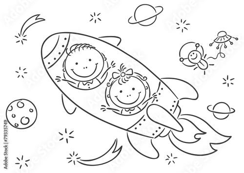 Fototapeta Children exploring space