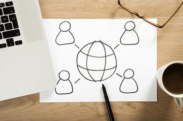 social media strategy plan on the office desk
