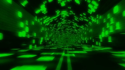 Data Binary Tunnel Green Seamless Loop