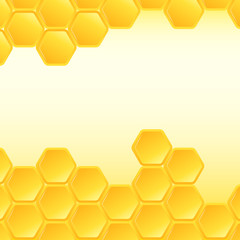 Honeycomb background. Vector Illustration