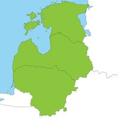 Baltikum in grün